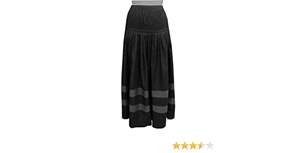 eb71f3e2c1 Baby'O Women's Original BIZ Style Striped Bottom Long Denim Skirt at Amazon Women's  Clothing store:
