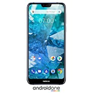 "Nokia 7.1 - Android 9.0 Pie - 64 GB - 12+5 MP Dual Camera - Dual SIM Unlocked Smartphone (at&T/T-Mobile/MetroPCS/Cricket/H2O) - 5.84"" FHD+ HDR Screen - Blue - U.S. Warranty"