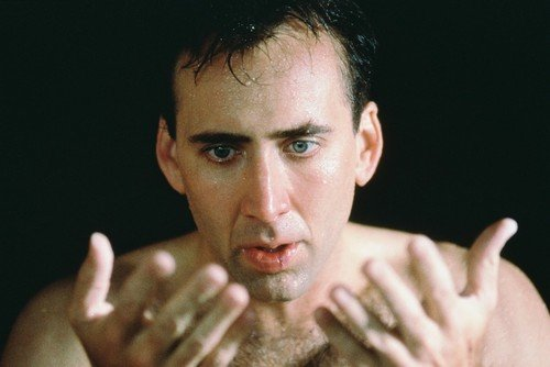 Nicolas Cage City Of Angels Bare Chested Looking At Hands 24x36 Poster ()