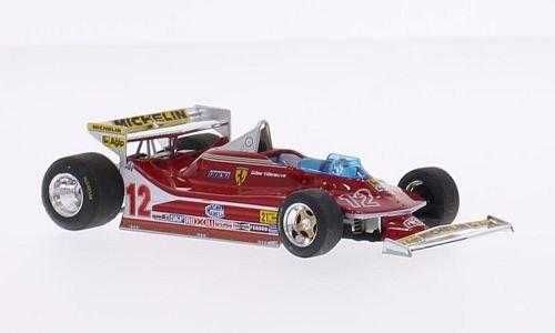 Ferrari 312 T4, No.12, scuderia Ferrari, formula 1, GP USA West, 1979, Model Car, Ready-made, Brumm - West Scuderia