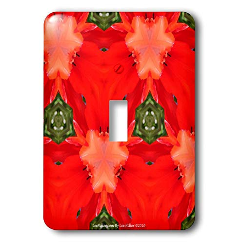 signs Kaleidoscope - Kaleidoscope Tulip Red - Light Switch Covers - single toggle switch (lsp_5796_1) ()