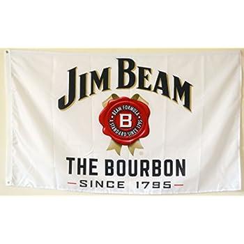 JIM BEAM FLAG BANNER 3X5FT BAR CLUB GARAGE MANCAVE BEVERAGE WHISKEY