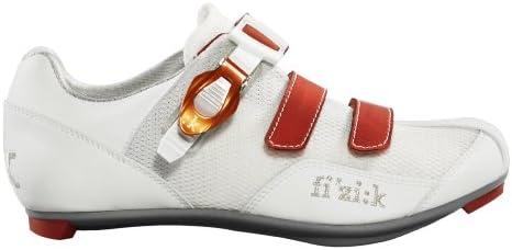 Fizik R5 de la Mujer Donna Ciclismo de Carretera Zapatos, Mujer, Blanco y Naranja