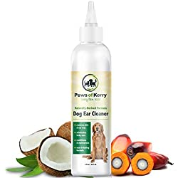 Dog & Cat Ear Infection Treatment for Itch, Discharge, Odor & Headshaking. Non-Irritating Ear Cleaner for Dog & Cat Ear Mites, Bacteria & Yeast. Gunk-free, Non-Greasy Dog Ear Wash By Paws of Kerry.