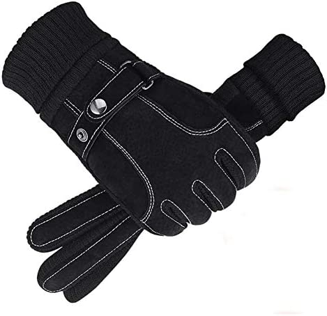 メンズグローブ、ウィンターサイクリング用の防寒性と防寒性のあるタッチスクリーン、恒温ロックヒート、滑り止め粒子、屋外サイクリングバイク用