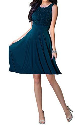 Abendkleider Tintenblau Festkleider Damen Partykleider Missdressy Applikation Kurz Charmeuse Elegant Aermellos Tanzenkleider Chiffon Rundkragen Z8RxqBwHF