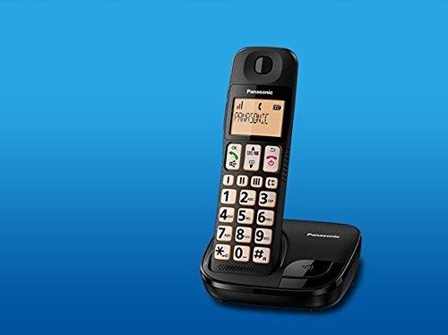 2 opinioni per Panasonic KX-TGE110JTB Telefono Fisso Cordless, Nero