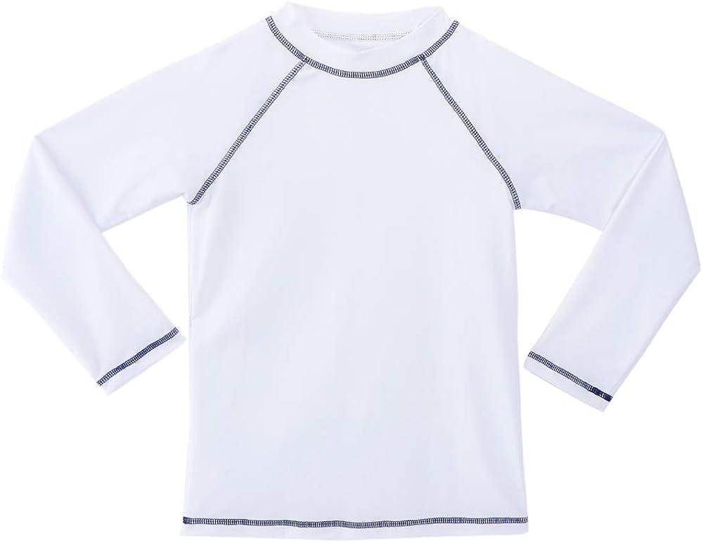 Protection Solaire TIZAX T-Shirt de Bain Anti-UV pour Enfants Filles Maillot de Bain /à Manche Longue Filles Rashguard pour Surf Natation plong/ée Plage UPF 50