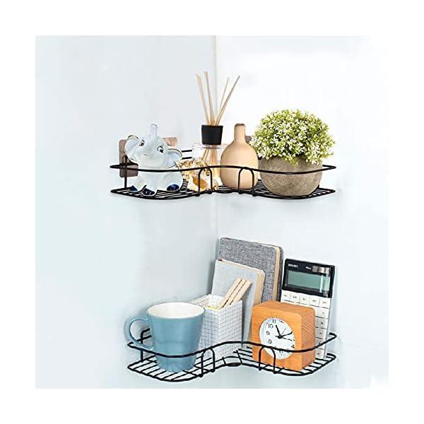 41ML1 CR70S PNNP Duschregal Eckregal, Badezimmer Regal, Duschablage Ohne Bohren Rostfrei Eckregal Metall, Duschwanne Aufkleber für…