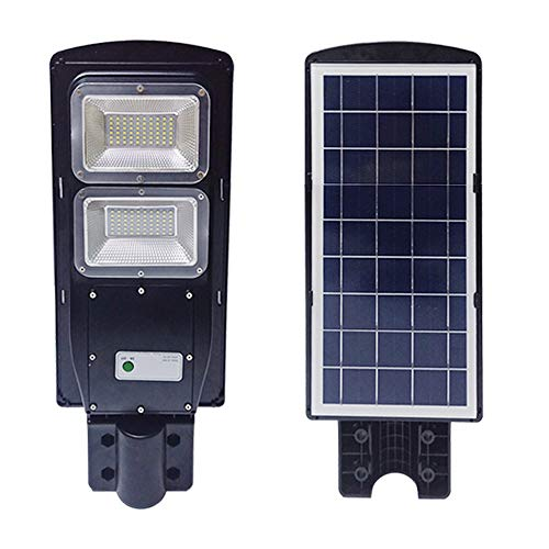 TAIMIKO 40W Solar Street Light, Parking Lot Lights 15000mAH Iron Phosphate Battery LED Street Light, Wireless-Waterproof IP65-Light/PIR Motion Sensor for Garage,Patio,Garden,Driveway (40W)
