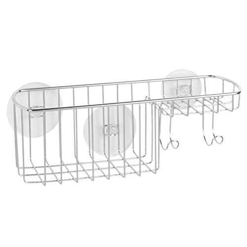 InterDesign Suction Combo Basket Chrome