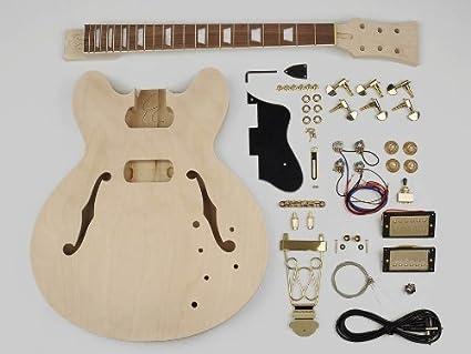 Hueca estilo del cuerpo de guitarra kit de montaje – Cuerpo de Tilo/22 trastes