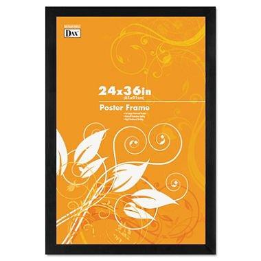 DAX 2863U2X Black Solid Wood Poster Frames w/Plastic Window, Wide Profile, 24 x (Dax Poster)