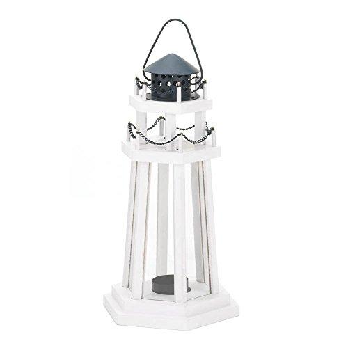 Lantern Candle Holder, Antique Hanging Decorative Lighthouse Wood Candle Lantern