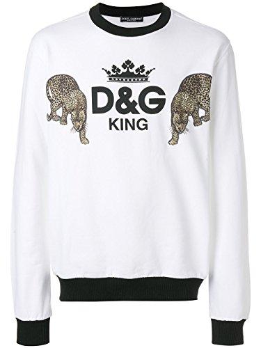 Dolce e Gabbana Men's G9jq2zg7mojhwi44 White Sweatshirt Dolce & Gabbana Mens Clothing