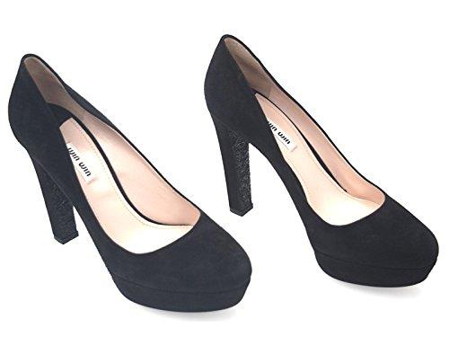 Zapatos Miu Mujer Gamuza Altos Negro 5ip266008f0002 qTIwTBP