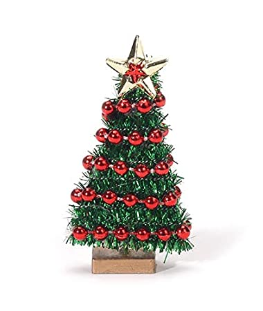 Image Unavailable. Image not available for. Color: Miniature Christmas Tree  with Bead Garland ... - Amazon.com: Miniature Christmas Tree With Bead Garland - 2 3/4