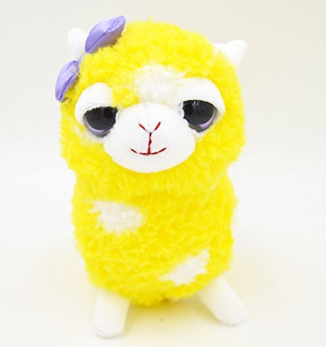 "Cuddly Stuffed Alpaca 6"" Plush"