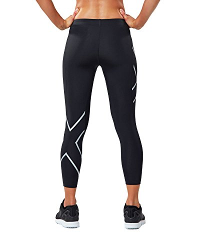 Donna silver Black 2xu Compression Wa4173 Leggings UqxffZn