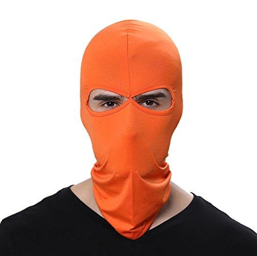 Orange Face Helmet - GANWAY Wind Cap Motorcycle Ski Masks Balaclavas Outdoor Sports Cycling Hat (Orange)