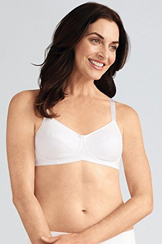 Amoena Bra (Amoena Women's Ruth Cotton Wire-Free Bra, White, 42A)