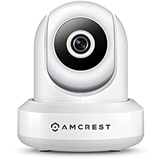 Amcrest ProHD 1080P POE (Power Over Ethernet) IP Camera with Pan/Tilt, Two-Way Audio, Optional Cloud Recording, Full HD (1920TVL) @ 30FPS, Wide 90° Viewing Angle and Night Vision IP2M-841EW (White)