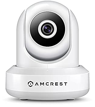 Amcrest ProHD 1080P POE Power Over Ethernet IP Camera with Pan Tilt, Two-Way Audio, Optional Cloud Recording, Full HD 1920TVL 30FPS, Wide 90 Viewing Angle and Night Vision IP2M-841EW White