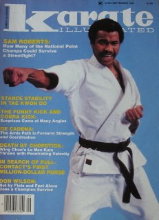 September 1983 Karate Illustrated Magazine Sam Roberts Cover