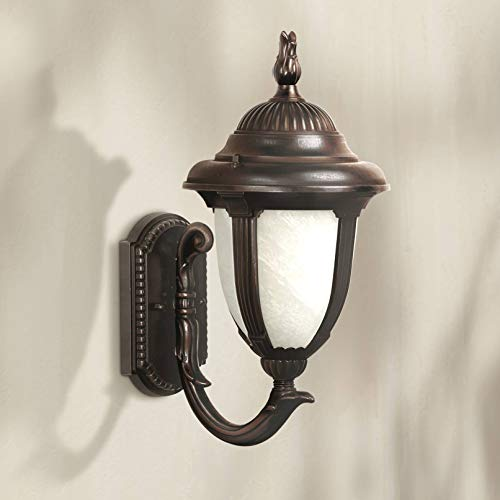 Casa Sorrento Traditional Outdoor Wall Light Fixture Bronze Upbridge 19