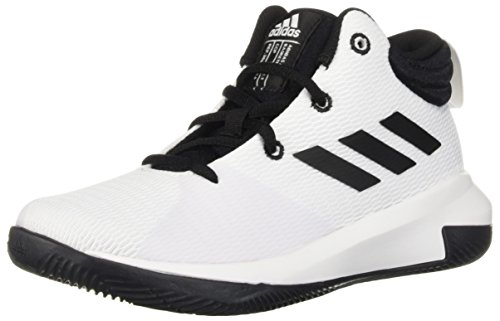 adidas Unisex Pro Elevate 2018 Basketball Shoe, Black/White, 1 M US Little Kid