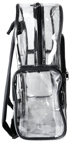 MGgear Clear Transparent PVC Multi-pockets School Backpack/ Outdoor Backpack