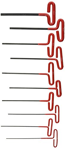 ATE Pro. USA 83342 Wrench, Hex Key, Dipped T-Handle, Metric, 10 Piece Set (8 Piece Hex Key Wrench)