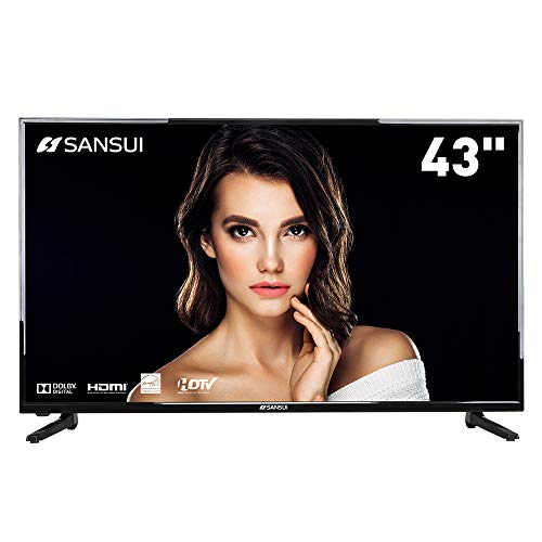 (SANSUI TV LED Televisions 43'' 1080P TV with Flat Screen TV HDMI PCA Input High Definition and Widescreen Monitor Display 3 HDMI (2018 Model))
