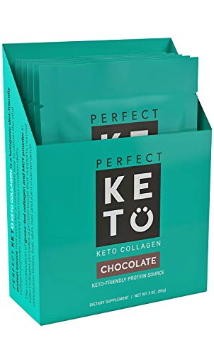Perfect Keto Collagen Protein (Chocolate, 5 Individual Single Serve)