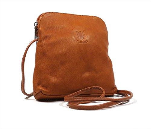 Soft Shoulder Handbag Navy Real Bag Tan Body Cross Italian Leather 5WRT1YwqS