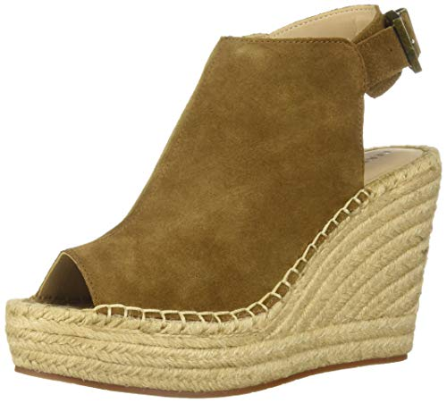 Kenneth Cole New York Women's Olivia Espadrille Wedge Sandal, Rust 6.5 M US