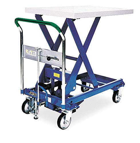 Mobile Manual Lift, Manual Push Scissor Lift Table, 1760 lb. Load Capacity, Lifting Height Max. 40-1