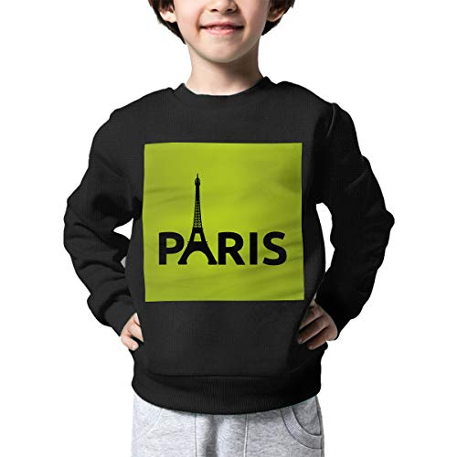 (Children's Paris Eiffel Tower Silhouettes Sweater Baby Girls Pullover Sweaters)