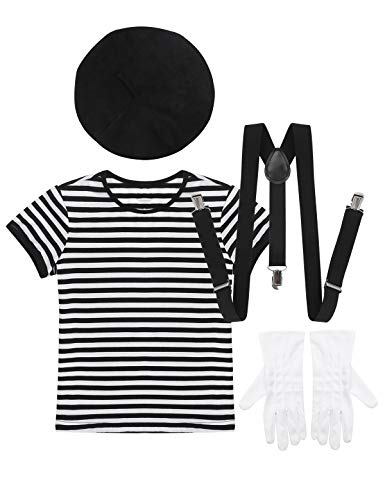 CHICTRY Kids Boys Girls Mime Artist Costume