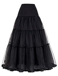 GRACE KARIN Women's Retro Dress Vintage Dress Crinoline Petticoat Underskirt Longuette