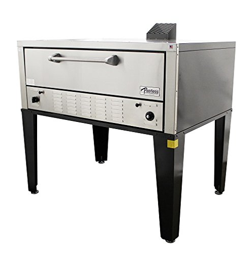 Peerless Ovens Floor Model CW100P Single Door Pizza Oven - Gas Fired - LP Gas - CANOPY VENT by Peerless Ovens