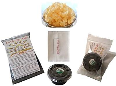 1/4 Cup Live Organic Water Kefir Grains (Tibicos) Natural Probiotics