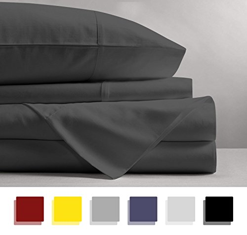 Mayfair Linen 100% EGYPTIAN COTTON Sheets, DARK GREY QUEEN S