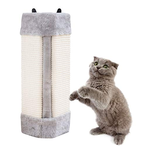 Pampurr Cat Scratcher Cat Scratching Board Pad Hanging Scratcher Cat Wall Mounted Scratching Post/Wall Corner Foldable Pet Sisal Scratcher/Furniture Protector (Cat Corner Scratch)