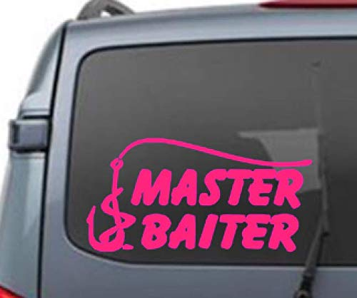 Master Baiter vinyl sticker car truck boat jets ski water sports fishing windows kids mens boys tweens fishing poles