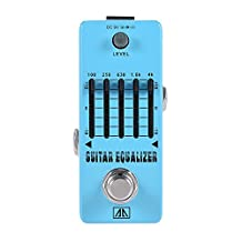 ammoon AROMA AEG-5 5-Band Graphic EQ Guitar Equalizer Effect Pedal Aluminum Alloy Body True Bypass