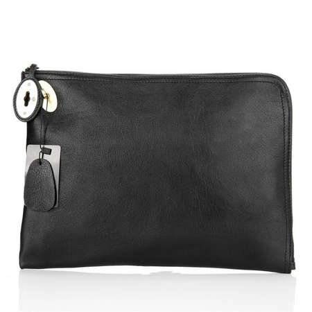 e05275d344 ... low price mulberry bag clutch nude soft leather black 92a6b 61417