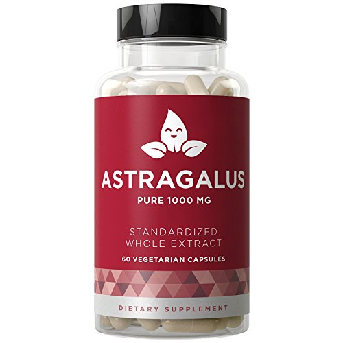 (Astragalus Pure 1000 MG - Healthy Immunity Function, Stress Support, Potent Strength for Seasonal Protection - Full-Spectrum & Standardized - 60 Vegetarian Soft Capsules)