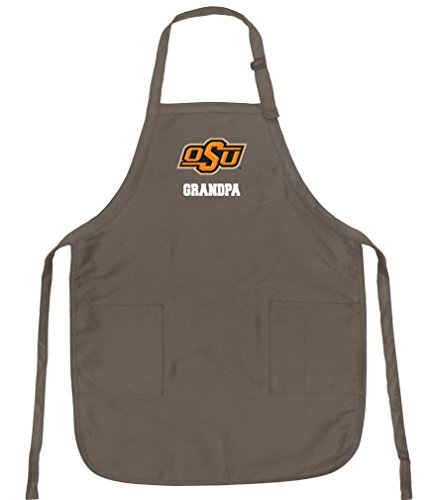 Oklahoma State Apron - Broad Bay Deluxe Oklahoma State Grandpa Apron Official OSU Cowboys Grandpa Logo Aprons