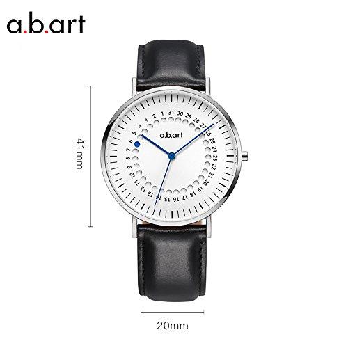Christmas Gift a.b.art FD41-101-1L Men's Analog-Digital Blue Pointer Fashion Silver Watch (Lido (Oily Cowhide)-Black) by a.b.art (Image #1)